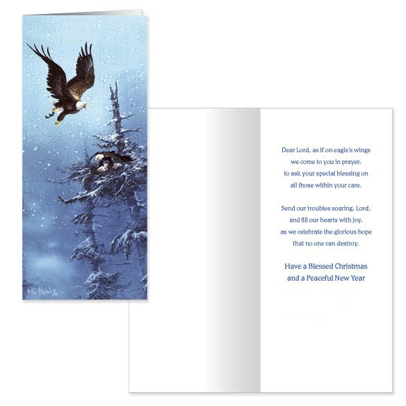 Blaylock Eagle Christmas Card - Set Of 20