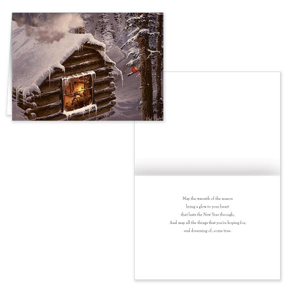 Blaylock Snowy Cabin Christmas Card - Set Of 20