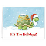 Labels & Stationery - Holiday Turtle Christmas Card - Set Of 20