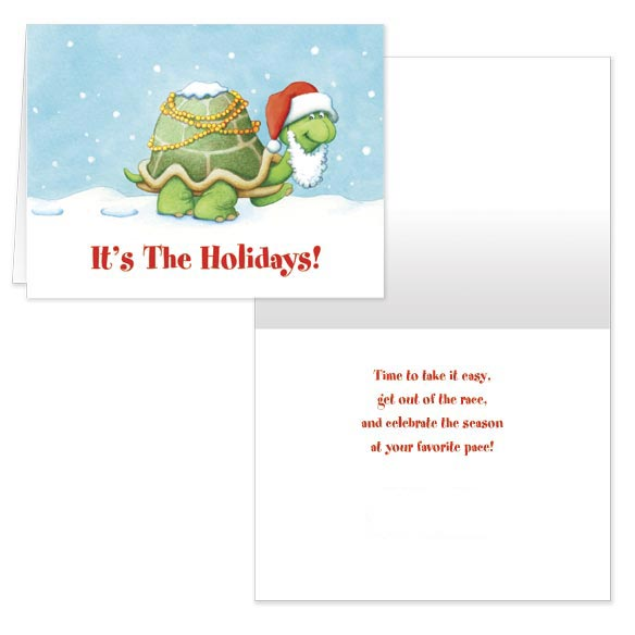 Holiday Turtle Christmas Card - Set Of 20