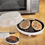 Small Appliances & Accessories - Microwave Roasting Plate with Lid