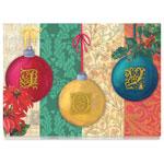 Secular - Monogram Ornament Christmas Card Set of 20