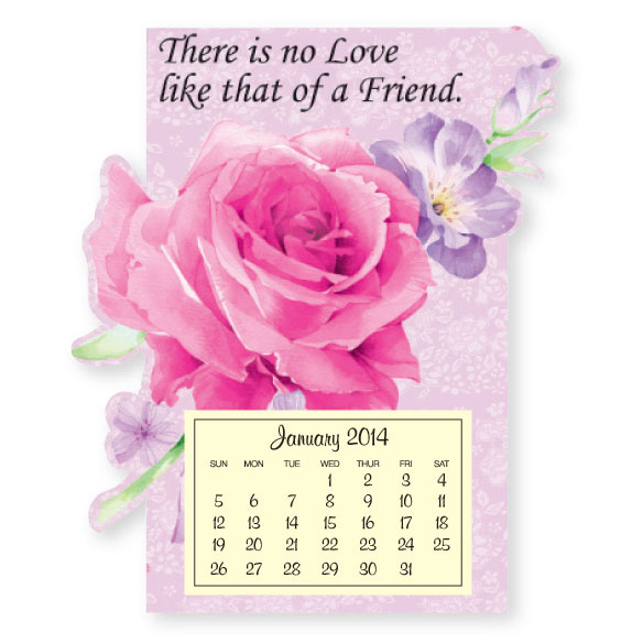 Rose & Love Mini Magnetic Calendar