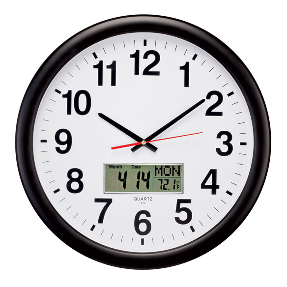 3-in-1 Giant Wall Clock