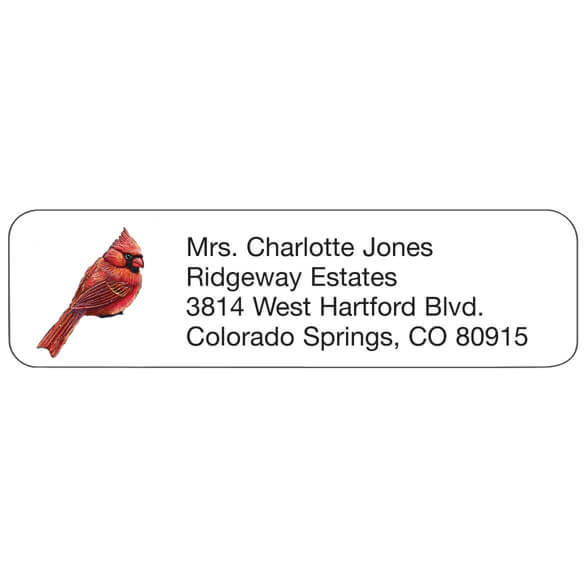 Personal Design Labels Cardinals