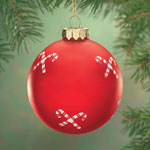 Decorations & Storage - Candy Canes Glass Ball Ornament