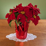 Decorations & Storage - Christmas Poinsettia 15""