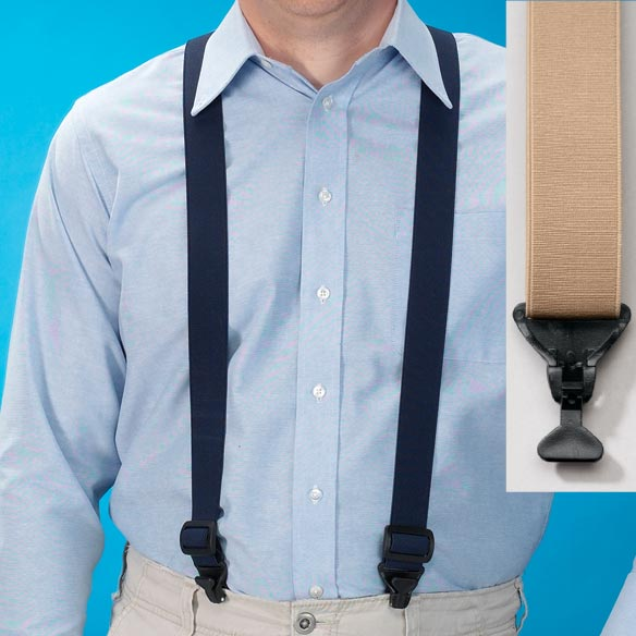 Suspenders with Plastic Clips