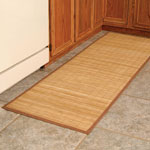"Semi-Annual Sale - Natural Bamboo Island Mat 24""x30"""