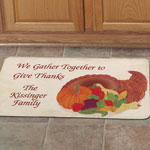 "Home - Personalized Cornucopia Mat 18"" x 30"""