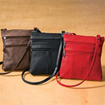 Handbags & Wallets - Leather Crossbody Messenger Bag