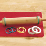 New - Rolling Pin Rings Set of 8