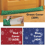 Snowflake Draft Block Slip Covers