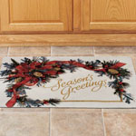"Greenery Collage Holiday Rug 18"" x 30"""