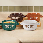 Top Items - Stoneware Soup Bowls With Handles - Set of 4