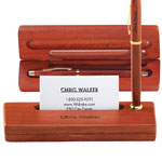 Personalized Gifts - Personalized Rosewood Single Pen Box with Holder