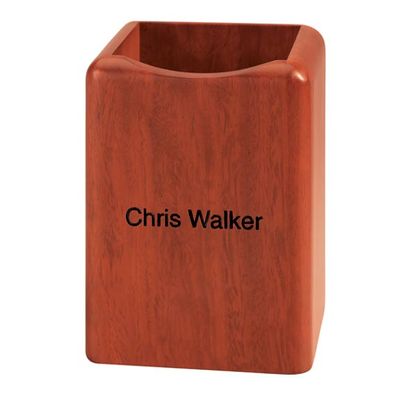 Personalized Rosewood Pen Holder