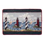Bath Accessories - Lighthouse Bath Mat - 2 Piece Set