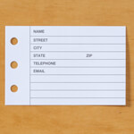 Address Book Refills - Set of 100