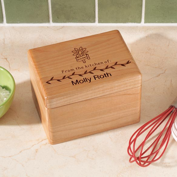 Personalized Recipe Box and Recipe Cards