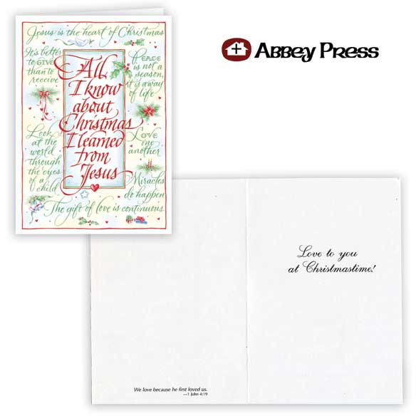 All I Know About Christmas Christmas Cards Set of 20