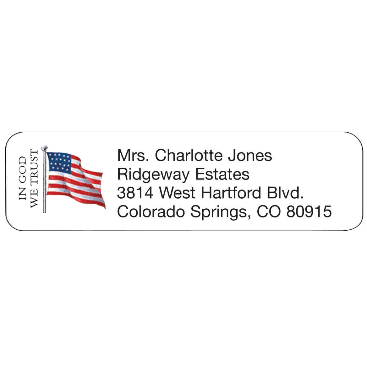 In God We Trust Personalized Address Labels-341416