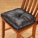 Organization & Decor - Faux Leather Chair Pad