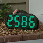 Glow in the Dark Address Rock