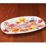 Floral Porcelain Serving Plate