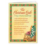 Holidays & Gifts - Christmas Quilt Prayer Christmas Card Set of 20