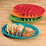 Outdoor Entertaining - Fiesta Taco Plates, Set of 4