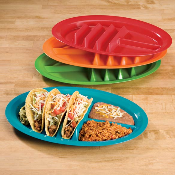 Fiesta Taco Plates, Set of 4