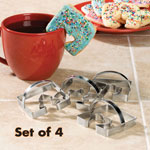 Coffee Cup Cookie Cutters, Set of 4