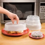 Small Appliances & Accessories - Vented Microwave Plate Covers - Set of 5