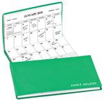Calendars - Personalized Bright 2 Year Planner Grass Green