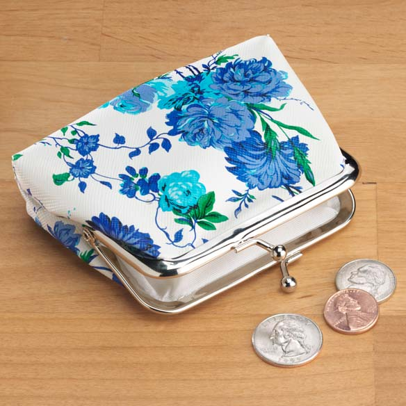 Roses and Peony Coin Purse