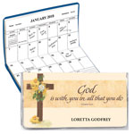 Personalized 2 Year Planner Cross