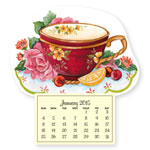 Calendars - Mini Magnetic Calendar Teacup and Roses