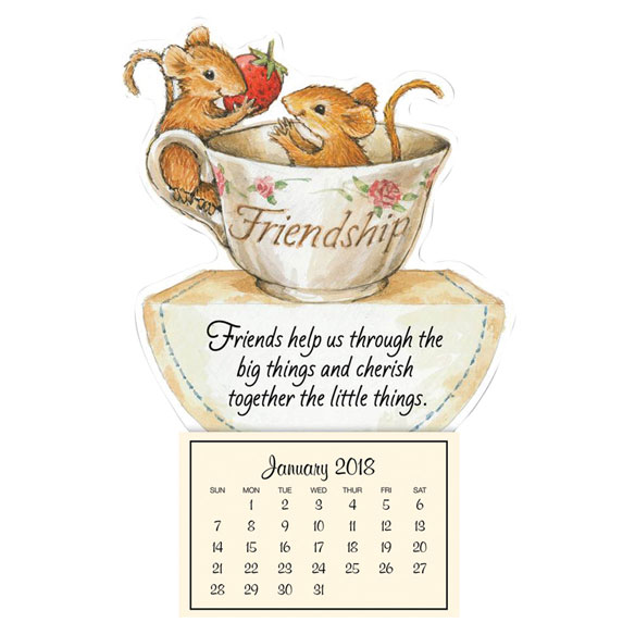 Mini Magnetic Calendar Friendship Mice