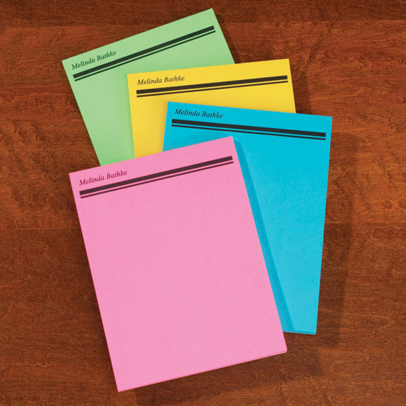 Bright Memo Pads Personalized