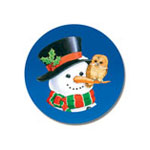 Christmas Cards - Snowman and Owl Seals, Set of 21