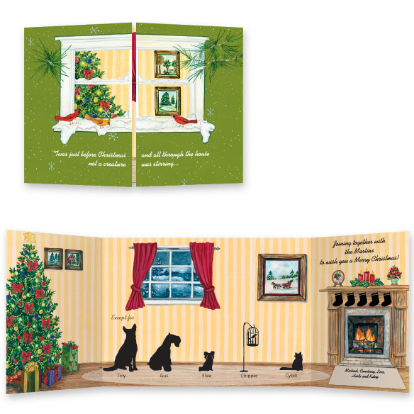 Pet Silhouette Greeting Card Set of 20