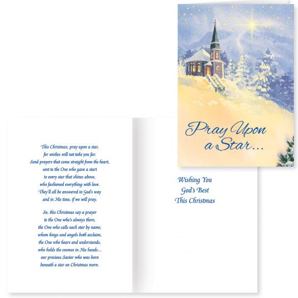 Pray Upon A Star Christmas Card - Set Of 20