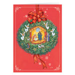 Religious - Nativity Wreath Christmas Card Set of 20
