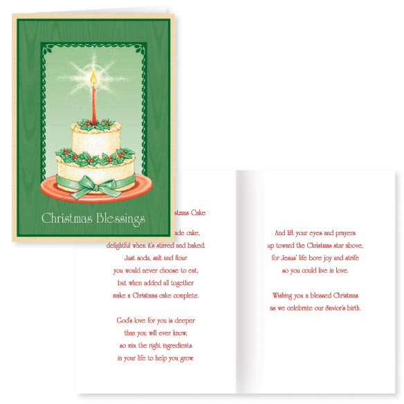 The Christmas Cake Christmas Card - Set Of 20