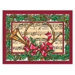 Christmas Cards - French Horn Christmas Card - Set Of 20