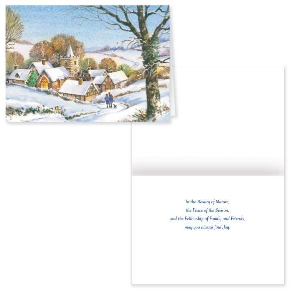 Peaceful Village Christmas Card Set of 20