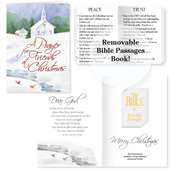 Bible Tuck-In Christmas Gift Card Set of 12