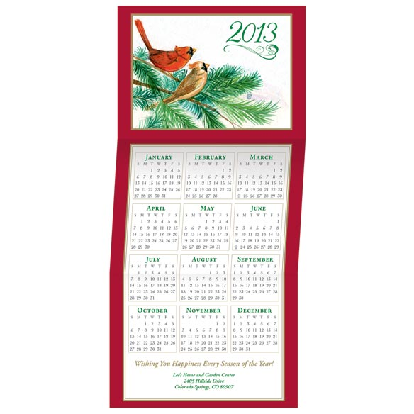 Cardinal Calendar Card Set of 20