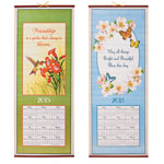 Calendars - Hummingbird & Butterflies Wall Scroll Calendar